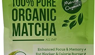 51UlQqvZpFL 327x188 - Matcha Green Tea Powder All Natural Weight Loss Metabolism Booster and Diet Smoothie Shake Mix and Fat Burning Supplement 113 Grams USDA Organic Culinary