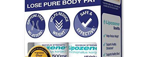 51FF2Ce6S8L 500x188 - Lipozene Diet Pills - Maximum Strength Fat Loss Formula - 1500mg , 60 Capsules